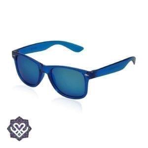 spiegelglazen zonnebril blauw