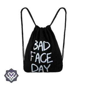 bad face day rugtasje gymbag