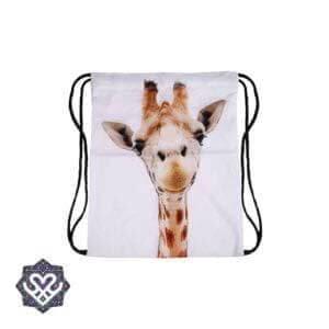 giraffe gym bag rugtasje