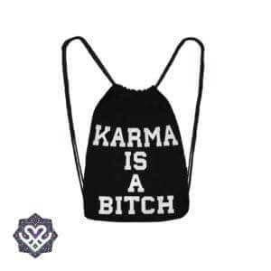karma is a bitch rugtasje gym bag