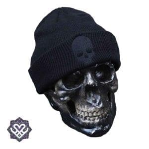 zwarte skull beanie
