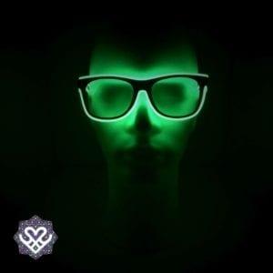 led bril groen heldere glazen