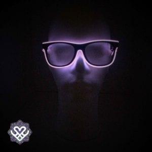 led bril paars heldere glazen