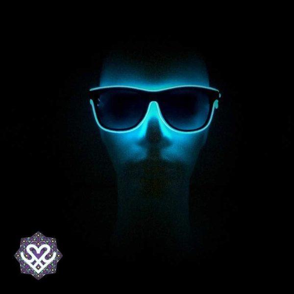 aanbieding led bril blauw