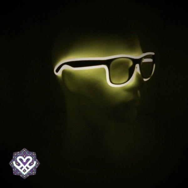 led bril geel heldere glazen
