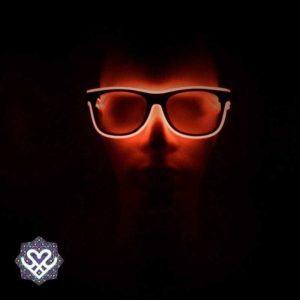 led bril rood heldere glazen