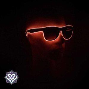 led bril rood zonnebril glazen