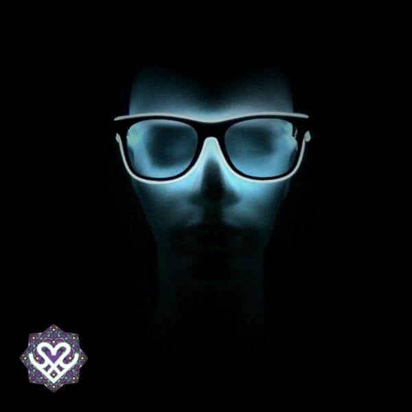 led bril wit heldere glazen