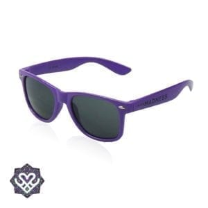 paarse ray ban zonnebril