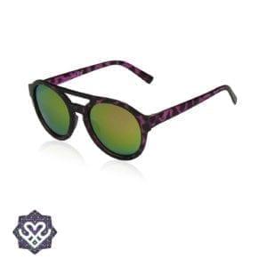 zonnebril ronde glazen paars