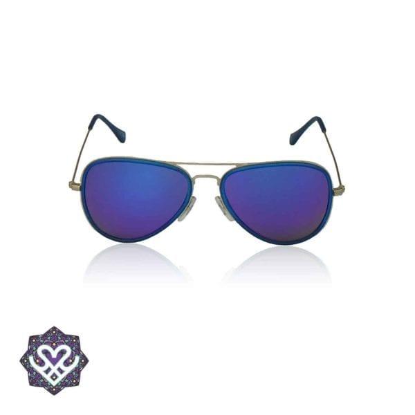pilotenbril blauw spiegel glazen