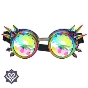 kaleidoscope goggle space bril