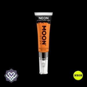 neon face paint oranje