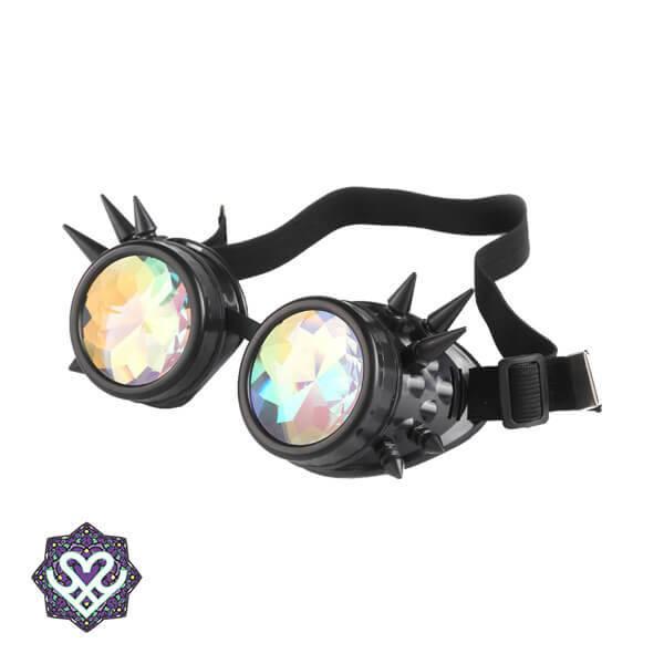 festival kaleidoscope glasses zwart