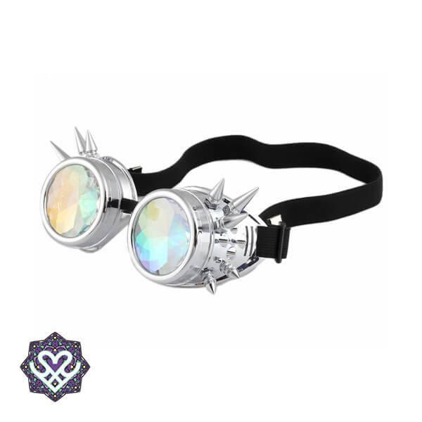 Kaleidoscoop zilver punkbril