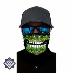 Green skull bandana