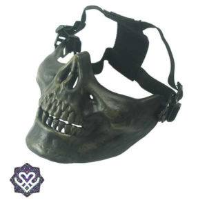 skull face mask groen