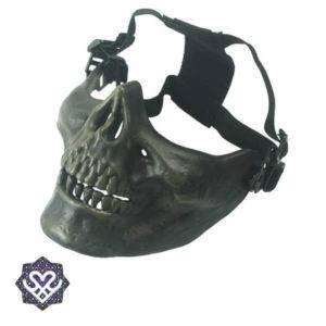 skull face mask groen