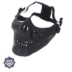 Doodshoofd masker zwart