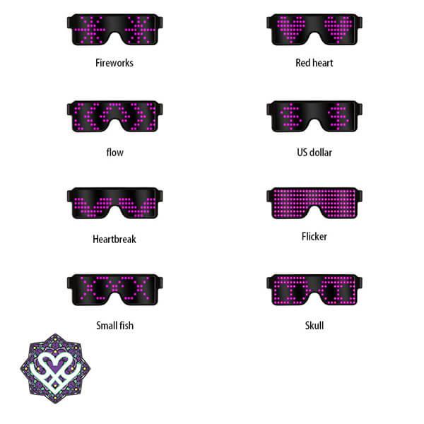 led bril met afbeeldingen