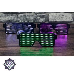 verschillende kleuren led brillen
