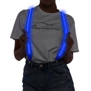lichtgevende bretels blauw
