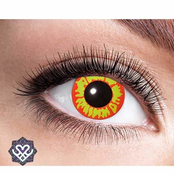partylens gekleurde lens rood