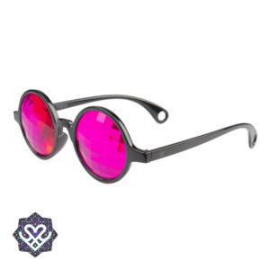 caleidoscoop bril roze glazen