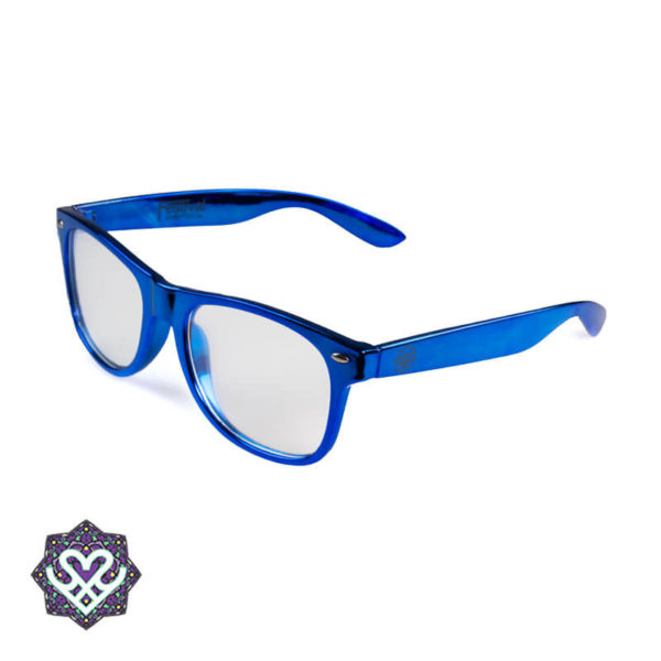 diffraction glasses blue