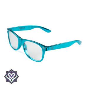 festivalbril lichtblauw montuur