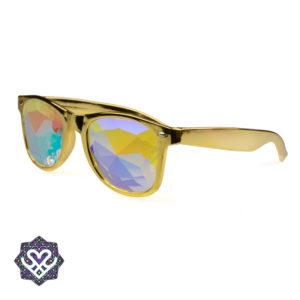 gouden caleidoscoop partybril