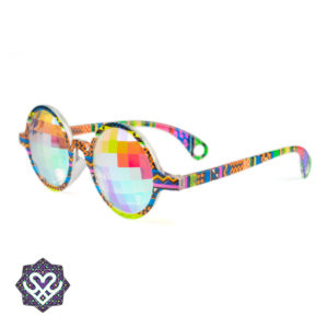 kaleidoscope glasses gekleurd montuur