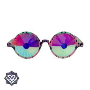 partybril tripbril ronde glazen