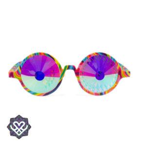 regenboog caleidoscoop bril