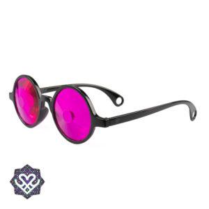 ronde caleidoscoop bril roze glazen