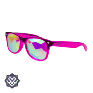 roze rayban caleidoscoop partybril