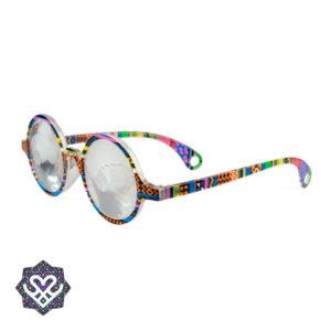 space bril gekleurd montuur