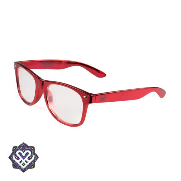 spacebril rood montuur
