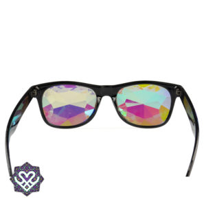 zwarte wayfarer caleidoscoop bril