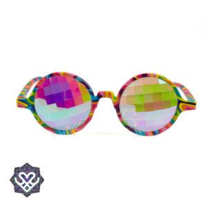 gekleurd montuur caleidoscoop bril