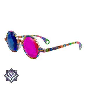 gekleurde caleidoscoop glasses