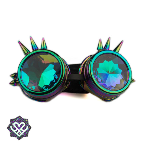Spikes goggle caleidoscoop bril - Big diamond (oil)