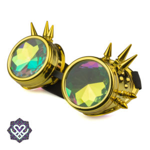 golden kaleidoscope goggle spikes