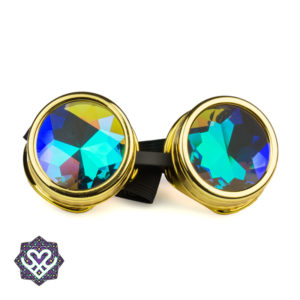 goud steampunk goggle caleidoscoop