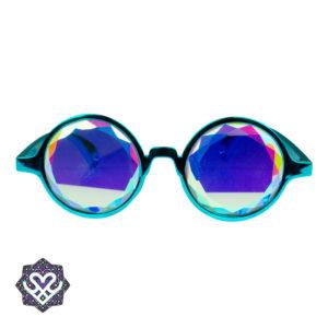kaleidoscoop bril korting blauw