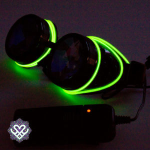 kaleidoscope goggle led el wire