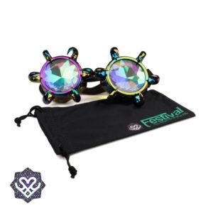 kaleidoscope goggle rainbow lens