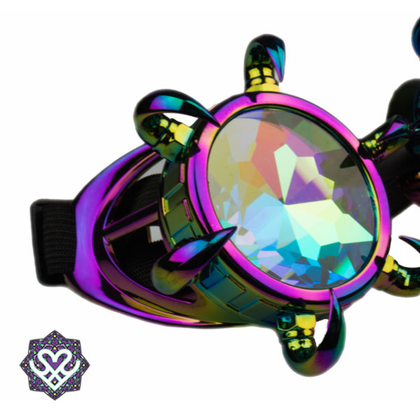 Claws goggle caleidoscoop bril - Big diamond (oil)
