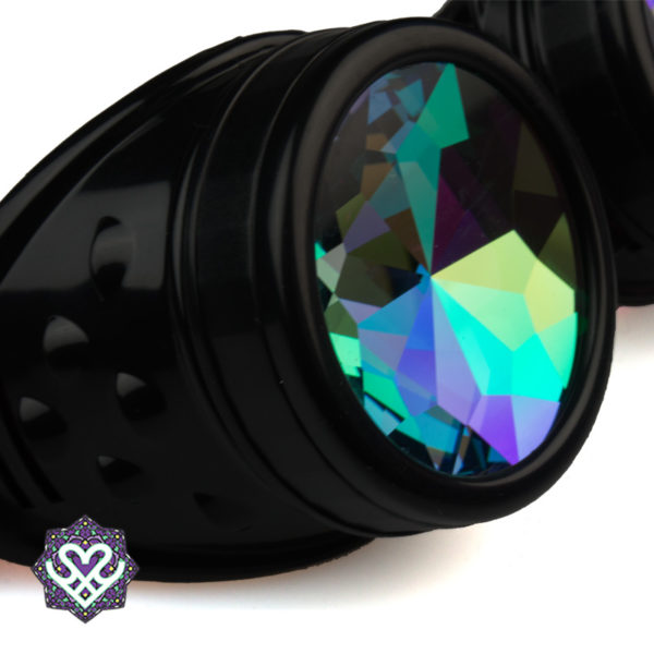 rainbow lens caleidoscoop goggle