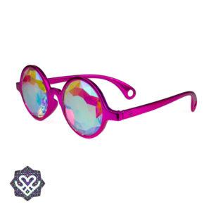 ronde roze partybril